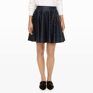 Navy Club Monaco faux leather skirt